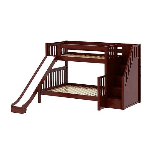 Maxtrix (中) TWIN+FULL 雙層床 + 箱梯 + 滑梯 (多款可選)