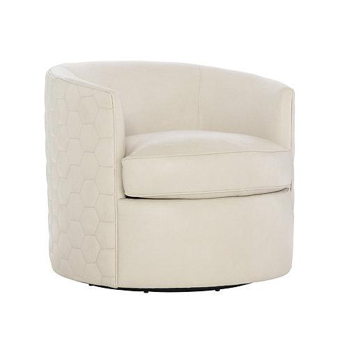 Corbin Leather Swivel Chair 2
