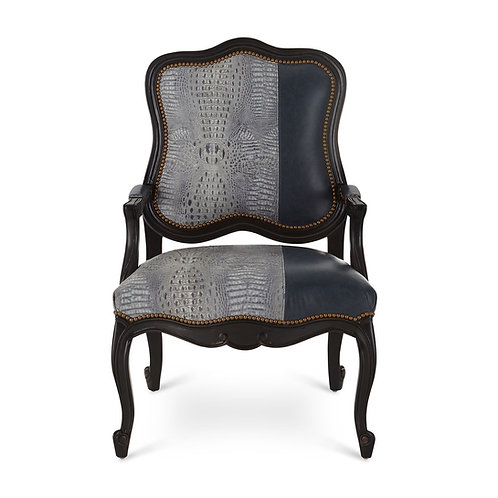 Alec Leather Bergere Chair