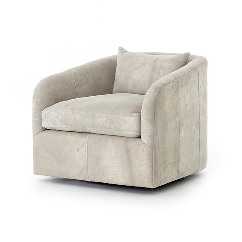 Topanga Leather Swivel Chair