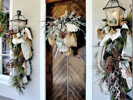 聖誕節裝飾門口的好點子