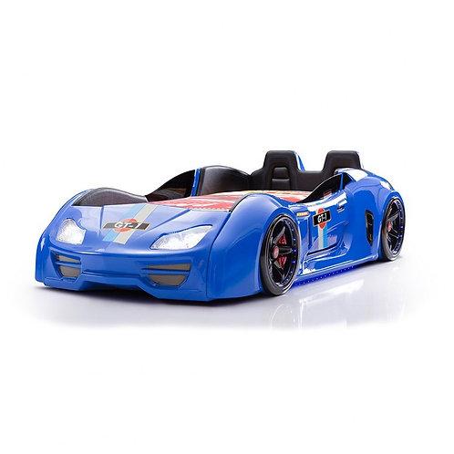 GT-1 渦輪酷炫賽車床-藍炫風 (含床墊)