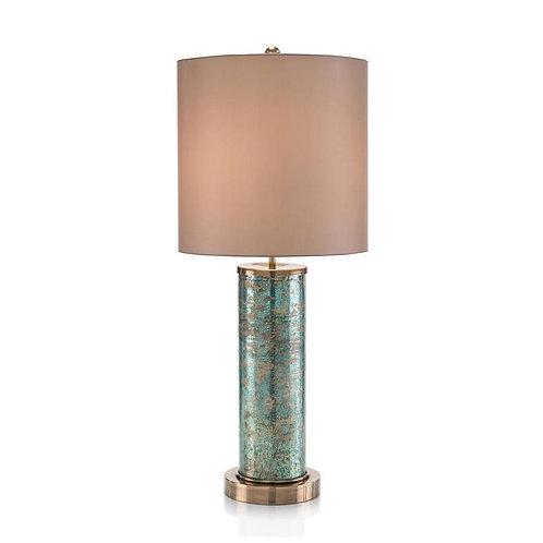Emerald Brass Table Lamp