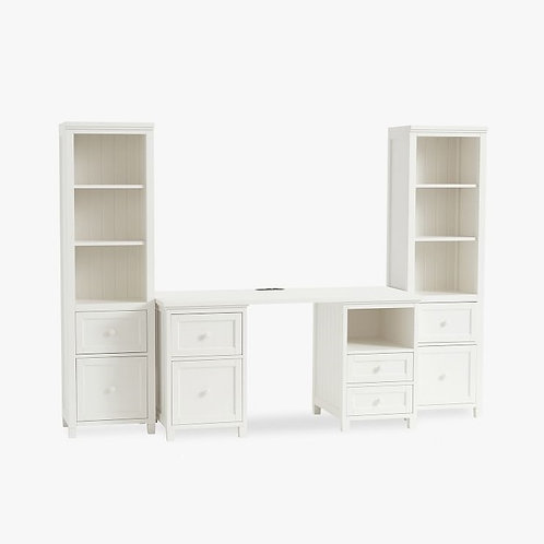 Bevan Smart Storage Desk & Bookcase Set