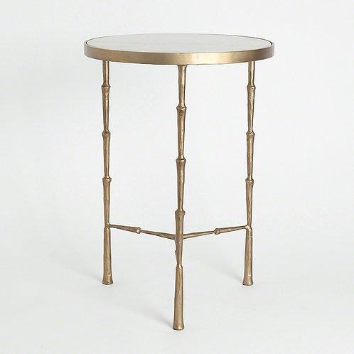 Spike Accent Table 白色大理石邊桌