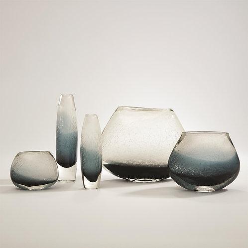 Crackled Frozen Vase - Indigo Blue (More Options)