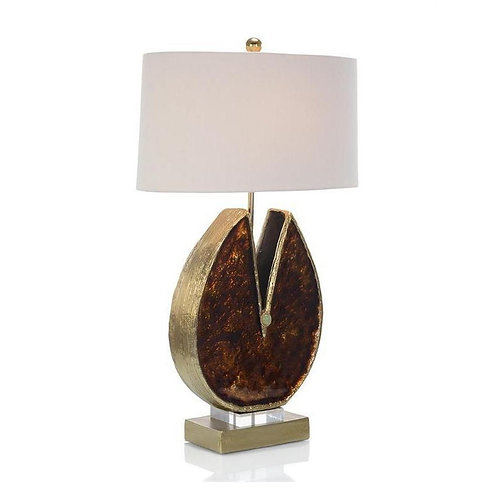 Caramel Enameled and Jeweled Table Lamp
