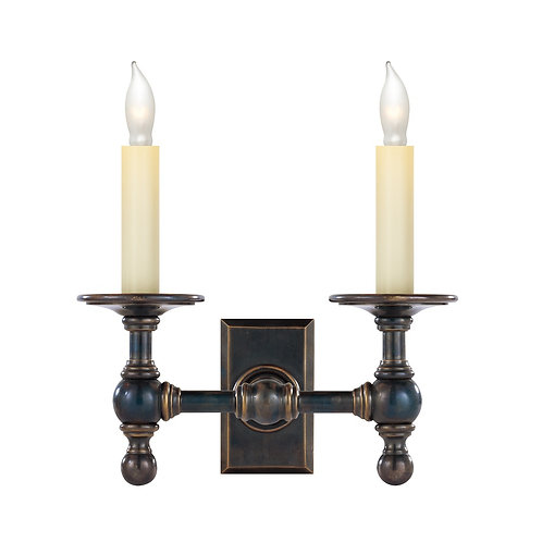 Double Library Classic Sconce (E. F. Chapman Collection)