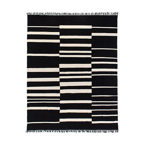 Offset Black Stripe Cotton Rug (多款可選)