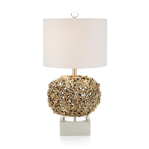 Layered Organic Brass Lamp