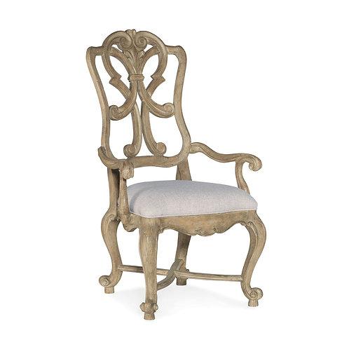 Castella Wood Back Arm Chair (Set of 2)