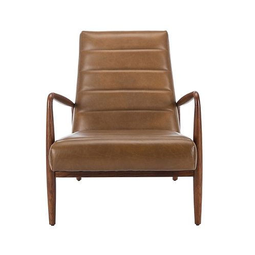 Willow Channel Tufted Leather Chair