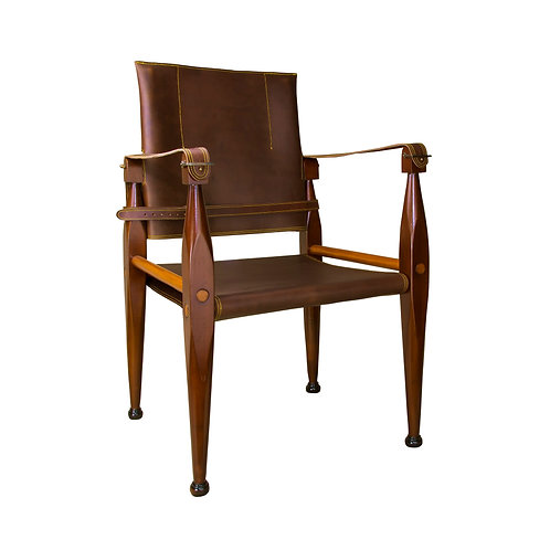Bridle Leather Campaign Chair