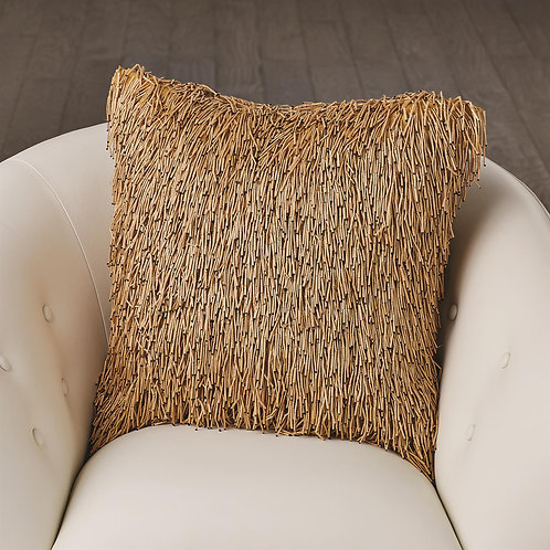 Wooden Fringe Pillow