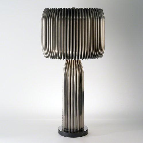 Crimp Table Lamp 皺褶花邊鍍鎳桌燈