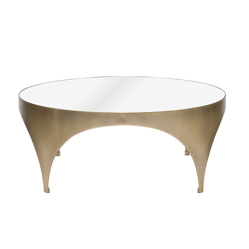 Apollo Cocktail Table With White Glass Top