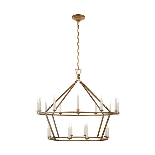 Darlana Large Two-Tiered Ring Chandelier (E. F. Chapman Collection, More Optio