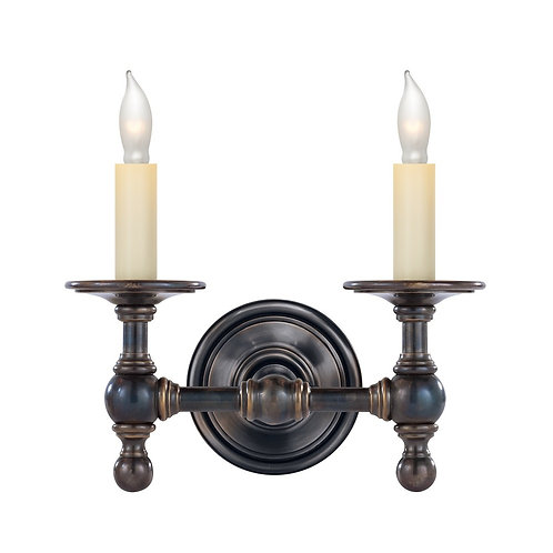 Classic Double Sconce (E. F. Chapman Collection, More Options)