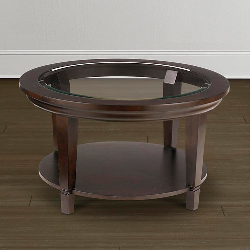 [客廳組合 B] Glass Top Round Cocktail Table