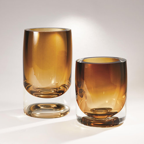 Thick Cylinder Vase - Amber (多款可選)