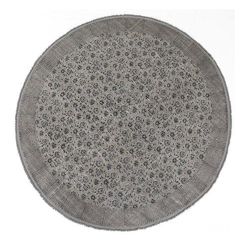 Flatweave Faded Round Print Rug (多款可選)