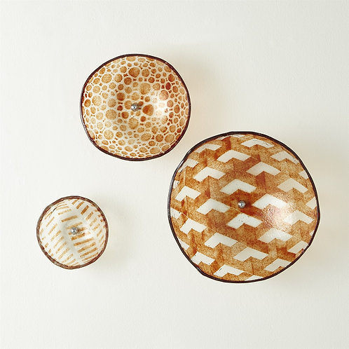 Fused Glass Wall Bowls - Amber (Set of 3) (多款可選)