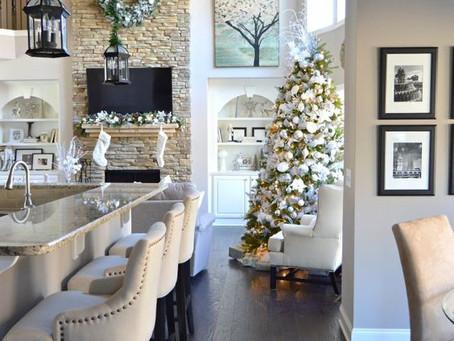 美式休閒渡假風聖誕客廳裝飾