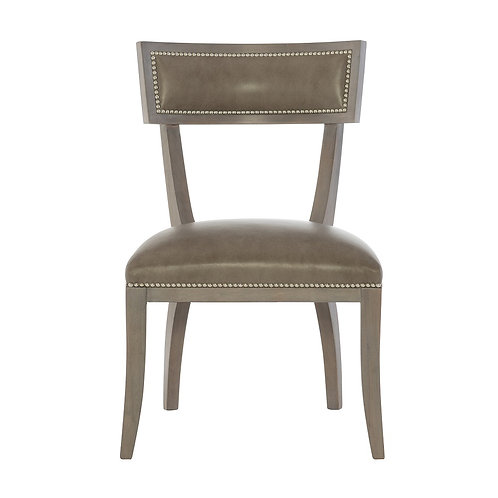 Delancey Leather Dining Side Chair (Set of 2)