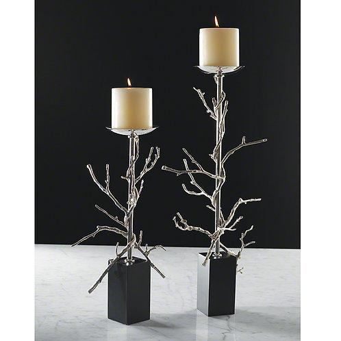 Twig 鍍鎳樹枝燭台