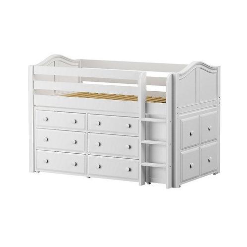 Maxtrix (低) 高架床 + 直梯 + 衣櫃 + 方櫃 - TWIN (多款可選)