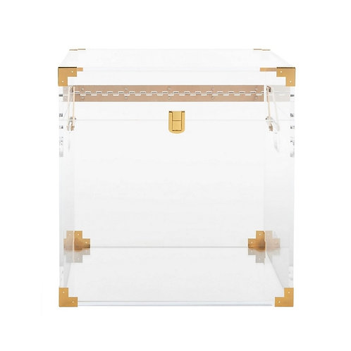 Isidra Acrylic Trunk End Table
