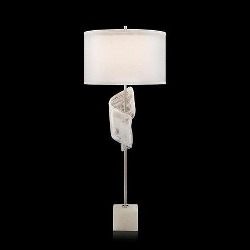 Furls of White Buffet Lamp