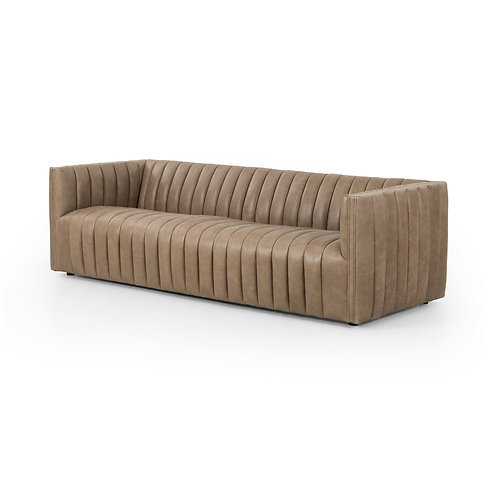 Augustine Leather Sofa 3 (More Options)