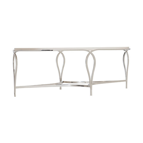 Calista Metal Oval Cocktail Table