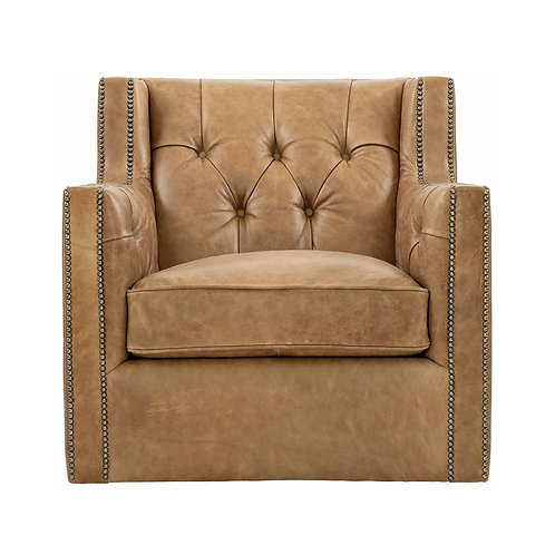 Candace Leather Swivel Chair 2