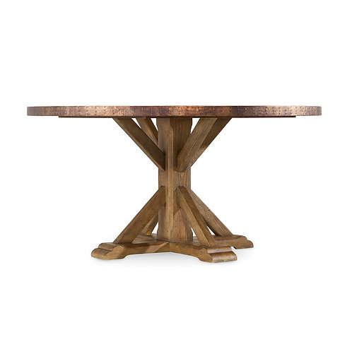 Sanctuary Round Copper Dining Table
