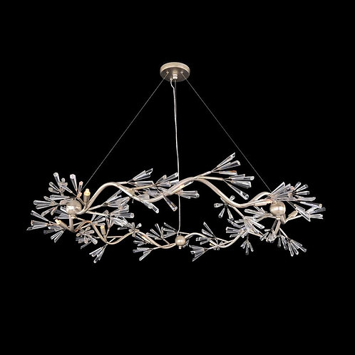 Crystal Wand Branched Chandelier