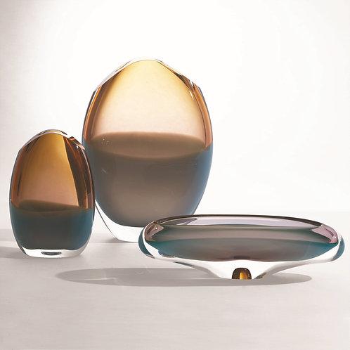 Pistachio Amber Vase & Bowl (More Options)