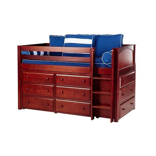 Maxtrix (低) 高架床 + 直梯 + 衣櫃 - TWIN (多款可選)