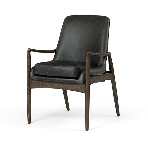 Braden Dining Leather Arm Chair 2