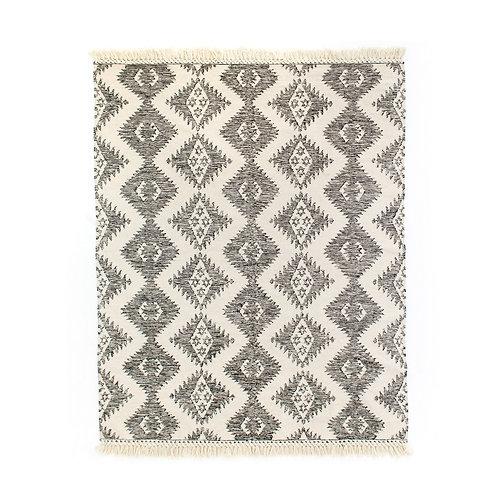 Charcoal & Cream Wool Rug (多款可選)