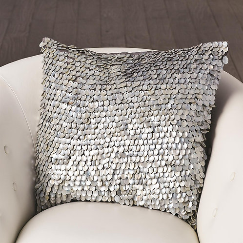 Mother of Pearl Beaded Pillow