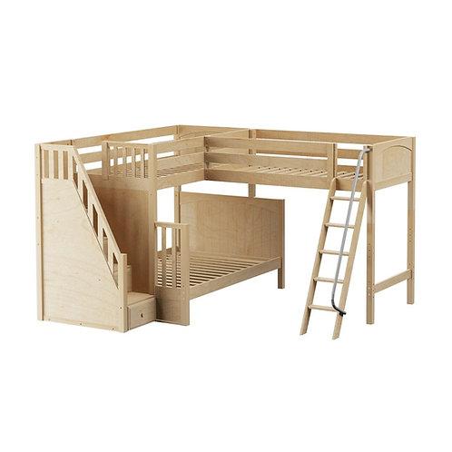 Maxtrix (高) 角落高架三床 TWIN+FULL + 箱/斜梯 (多款可選)