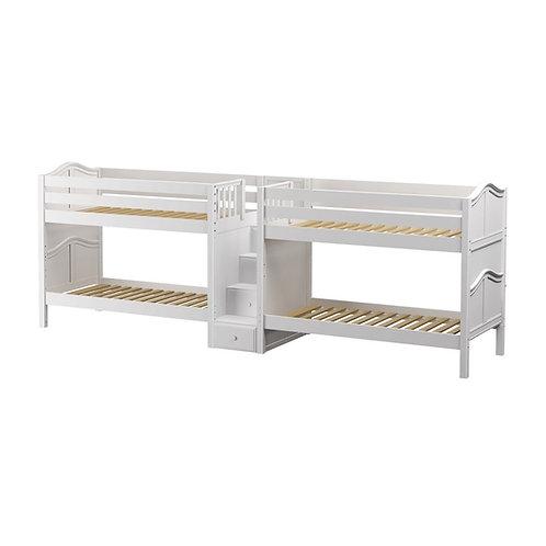 Maxtrix (低) 雙排雙層床 + 箱梯 - TWIN (多款可選)