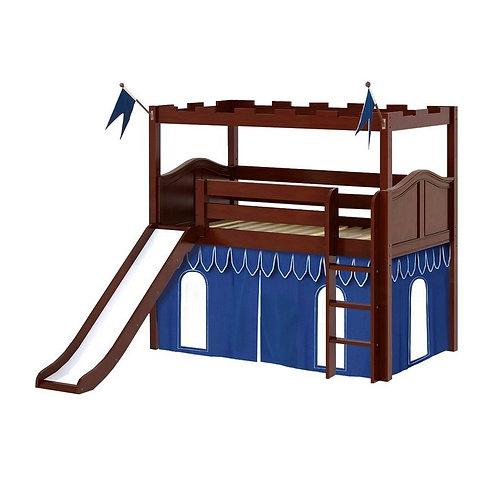 Maxtrix (低) 高架床 + 直梯 + 滑梯 + 城堡套組 (多款可選)
