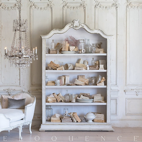 Rousseau Bookcase in Silver and Pale White