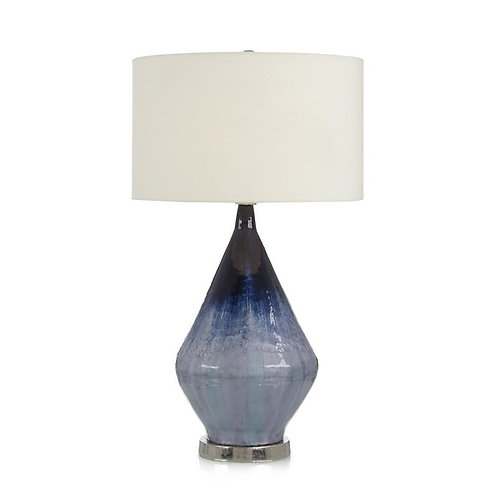 Blue Enameled Table Lamp