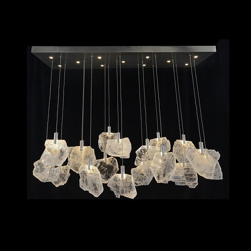 Selenite Pane Horizontal Chandelier 2