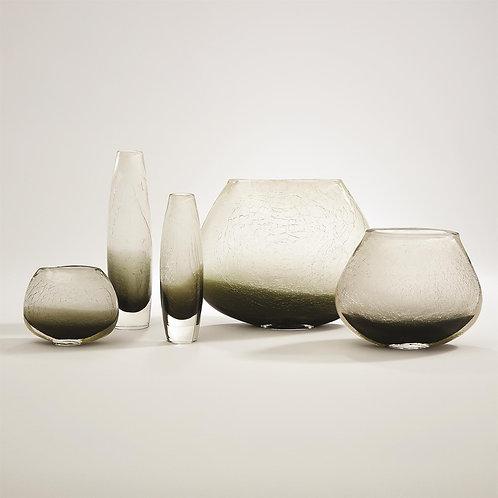 Crackled Frozen Vase - Steel Grey (More Options)