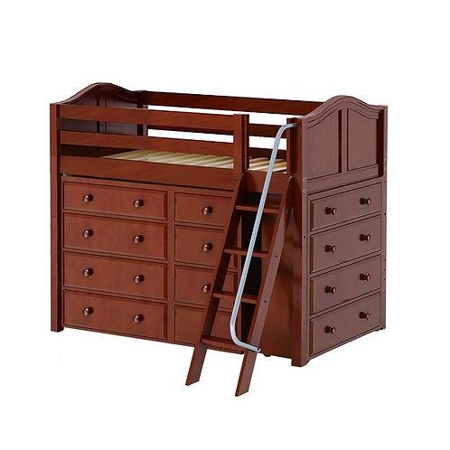 Maxtrix (中) 高架床 + 扶梯 + 衣櫃 - TWIN (多款可選)